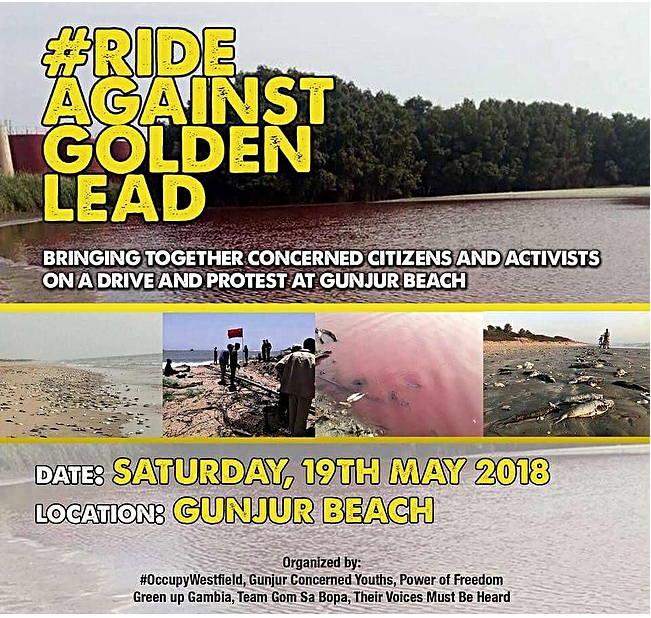 Gambia activists to stage massive demo against Golden Lead in Gunjur