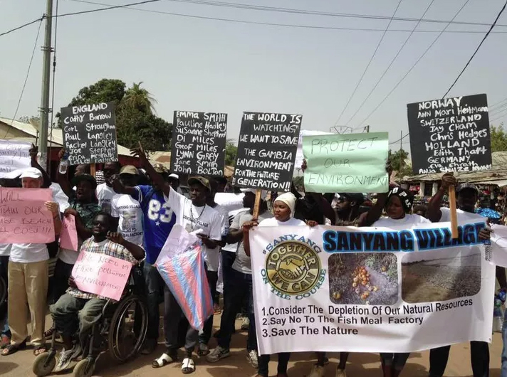 Protests by residents of Sanyang helped to close down the Nessim Fish Meal Factory in June