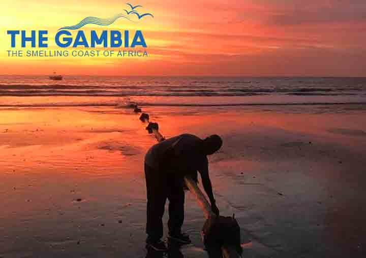 Paradise Beach in Sanyang, the Gambia. A pipeline from Nissim Fishmeal Factory is making it not so much 'Paradise' anymore. (Picture Momodou S. Janneh)