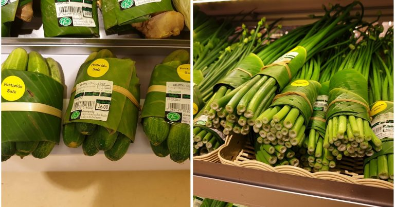 Thailand: Grocery Chain Replaces Plastic Produce Packaging with Banana Leaves