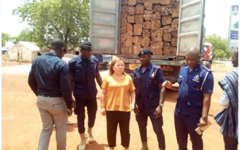 GHANA: Chinese Woman busted for attempting to smuggle Rosewood