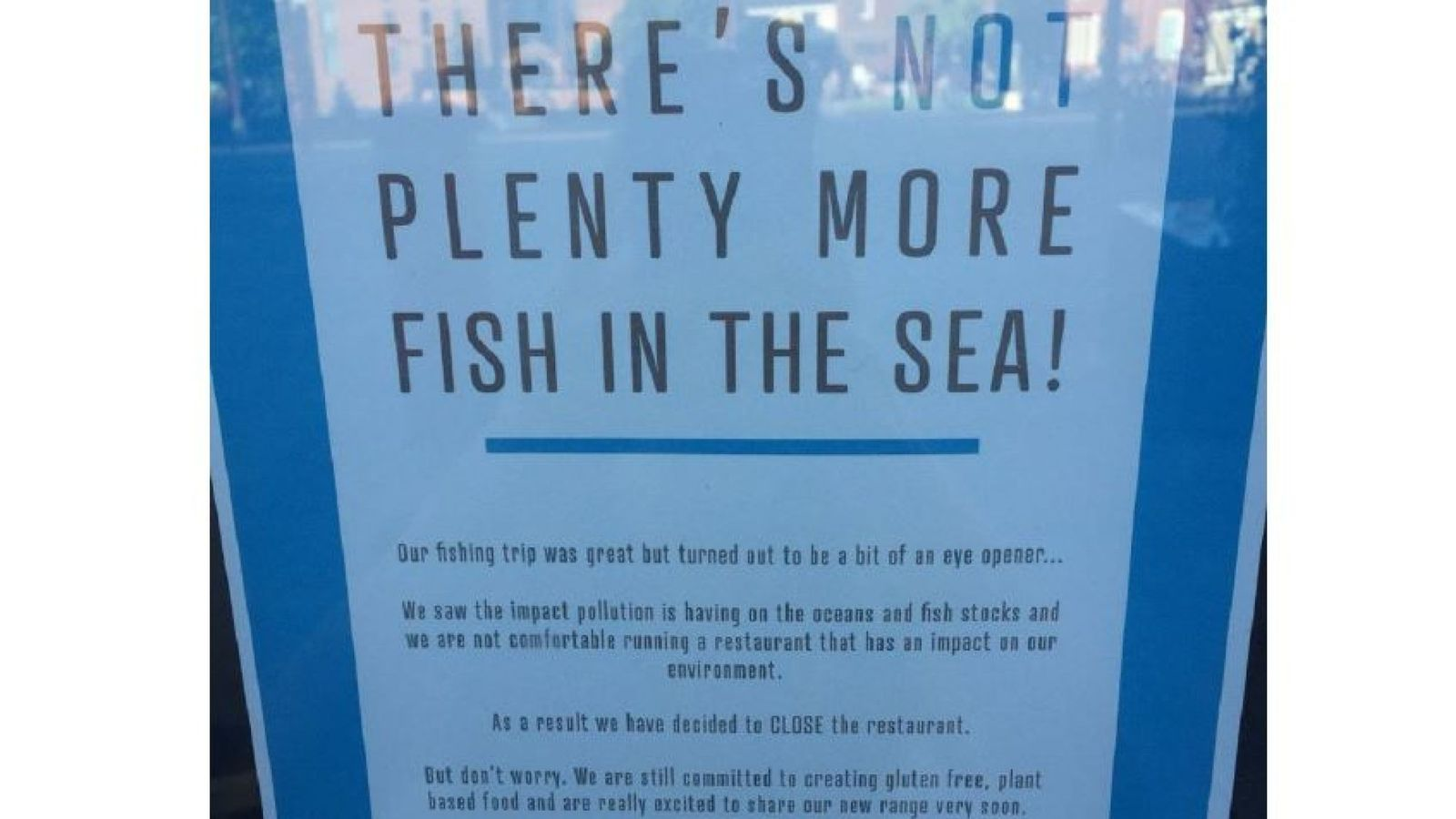 Fish and chip restaurant closes when owners witness depleted sea